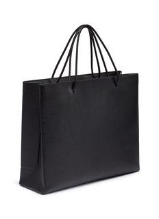 Balenciaga 'East-West' logo print medium leather shopping tote bag