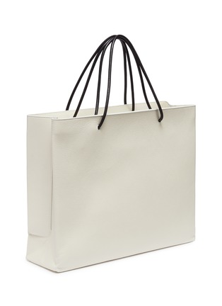 Figure View - Click To Enlarge - Balenciaga - 'East-West' logo print medium leather shopping tote bag