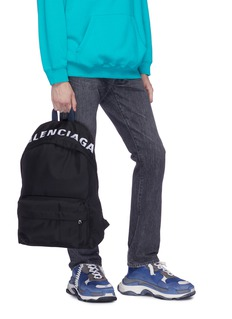 Balenciaga 'Wheel' logo embroidered backpack