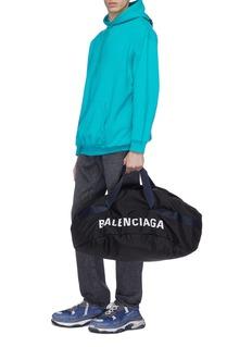 Balenciaga 'Wheel' logo embroidered duffle bag