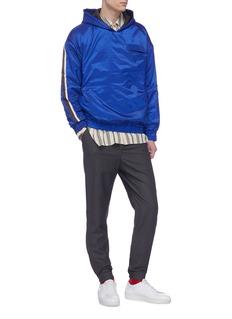 8ON8 Stripe sleeve padded hoodie