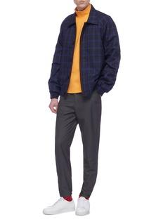 8ON8 Windowpane check wool shirt jacket