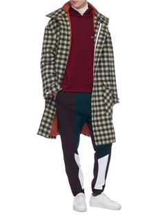 8ON8 Colourblock zip cuff pants