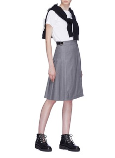 Le Kilt Pleated side wool garbardine kilt skirt