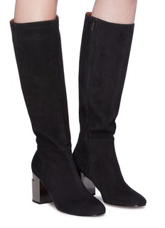 Robert Clergerie 'Katrin' twisted heel suede boots