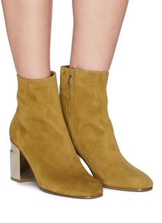 Robert Clergerie 'Keyla' twisted heel suede ankle boots
