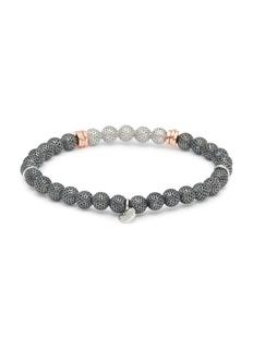 Tateossian 'Stonehenge' silver bead bracelet