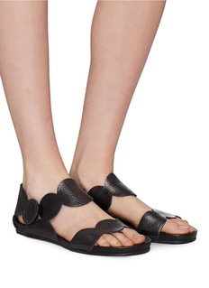 Pedro García 'Jeanne' scalloped leather sandals