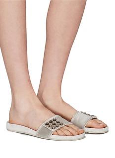 Pedro García 'Amelin' Swarovski crystal satin slide sandals
