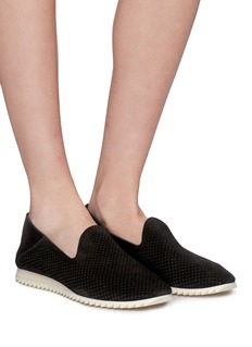 Pedro García 'Cristiane' perforated suede step-in slip-ons