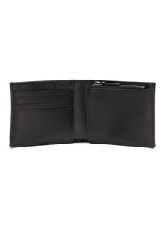 Valentino Logo patch leather bifold wallet