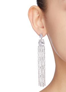 CZ by Kenneth Jay Lane Cubic zirconia fringe drop earrings