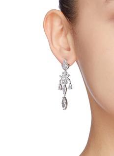 CZ by Kenneth Jay Lane Cubic zirconia floral drop earrings