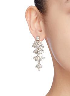 CZ by Kenneth Jay Lane Cubic zirconia leaf statement earrings