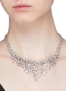 CZ by Kenneth Jay Lane Cubic zirconia bib necklace