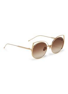 SUNDAY SOMEWHERE 'Daisy' cutout metal cat eye sunglasses