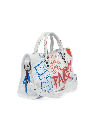 Figure View - Click To Enlarge - Balenciaga - 'Classic City Graffiti' print small leather shoulder bag