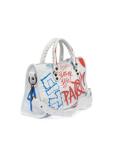 Balenciaga 'Classic City Graffiti' print small leather shoulder bag