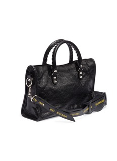 Balenciaga 'Classic City' logo strap small leather shoulder bag