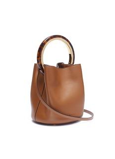 Marni 'Pannier' tortoiseshell ring handle leather crossbody bag