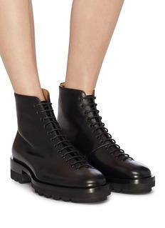 Jil Sander Leather combat boots
