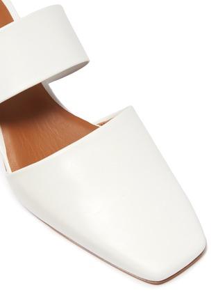 Detail View - Click To Enlarge - NEOUS - 'Masdevallia' sphere heel cutout leather mules