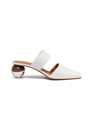 Main View - Click To Enlarge - NEOUS - 'Masdevallia' sphere heel cutout leather mules