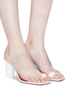 NEOUS 'Chost' PVC band leather toe ring sandals