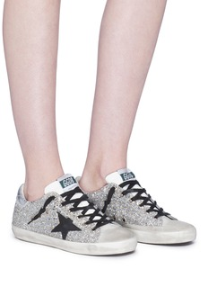 Golden Goose 'Superstar' glitter coated leather sneakers