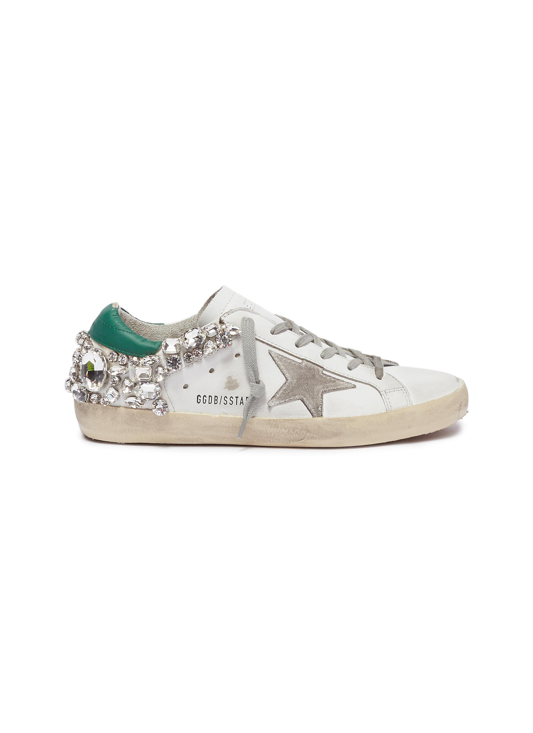 Superstar strass leather sneakers by Golden Goose