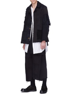 By Walid Reconstructed patchwork jogging pants