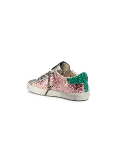 Golden Goose 'Superstar' colourblock glitter coated leather toddler sneakers