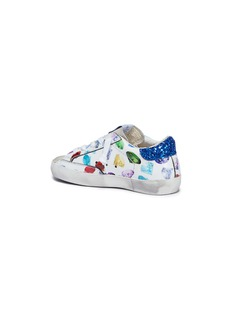 Golden Goose 'Superstar' suede panel diamond print leather toddler sneakers