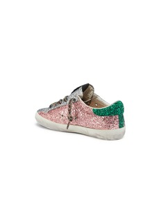 Golden Goose 'Superstar' colourblock glitter coated leather kids sneakers