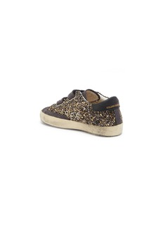 Golden Goose 'Old School' suede panel glitter coated leather toddler sneakers