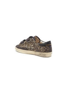 Golden Goose 'Old School' suede panel glitter coated leather kids sneakers