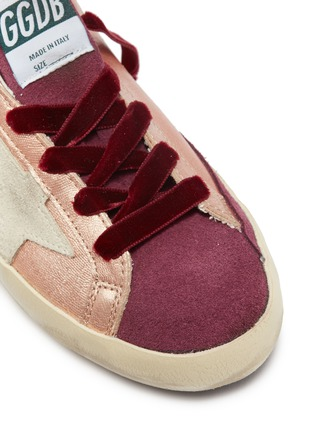Detail View - Click To Enlarge - Golden Goose - 'Superstar' suede panel metallic leather kids sneakers