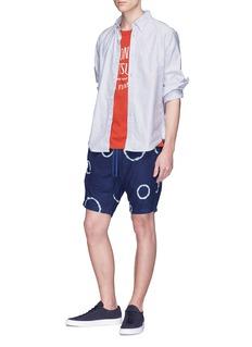 Denham 'Carlton' circle tie-dye print shorts