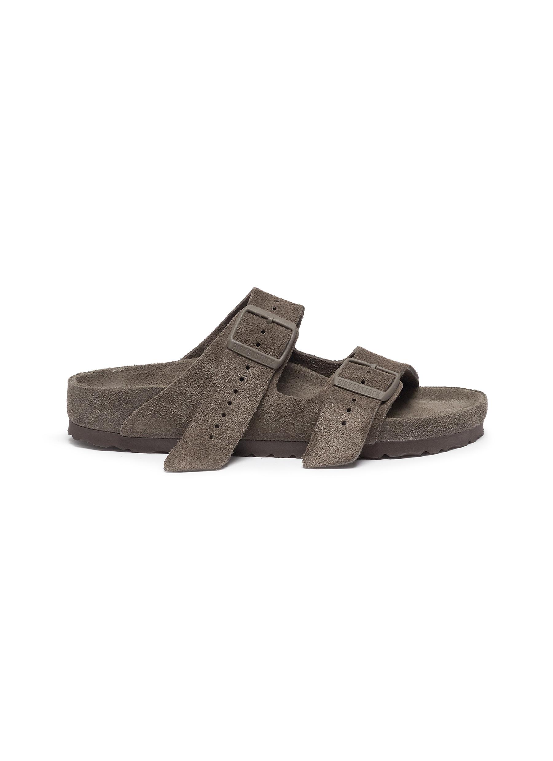 Photo of Arizona suede sandals by Rick Owens x BIRKENSTOCK womens shoes - buy Rick Owens x BIRKENSTOCK footwear online