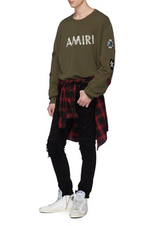 Amiri Logo print mix patch sweatshirt