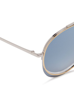 Detail View - Click To Enlarge - Chloé - 'Romie' cutout circle mirror metal aviator sunglasses