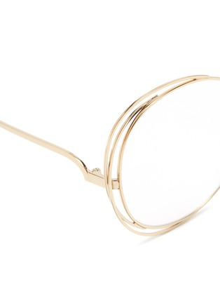 Detail View - Click To Enlarge - Chloé - 'Carlina' overlap wire rim round optical glasses