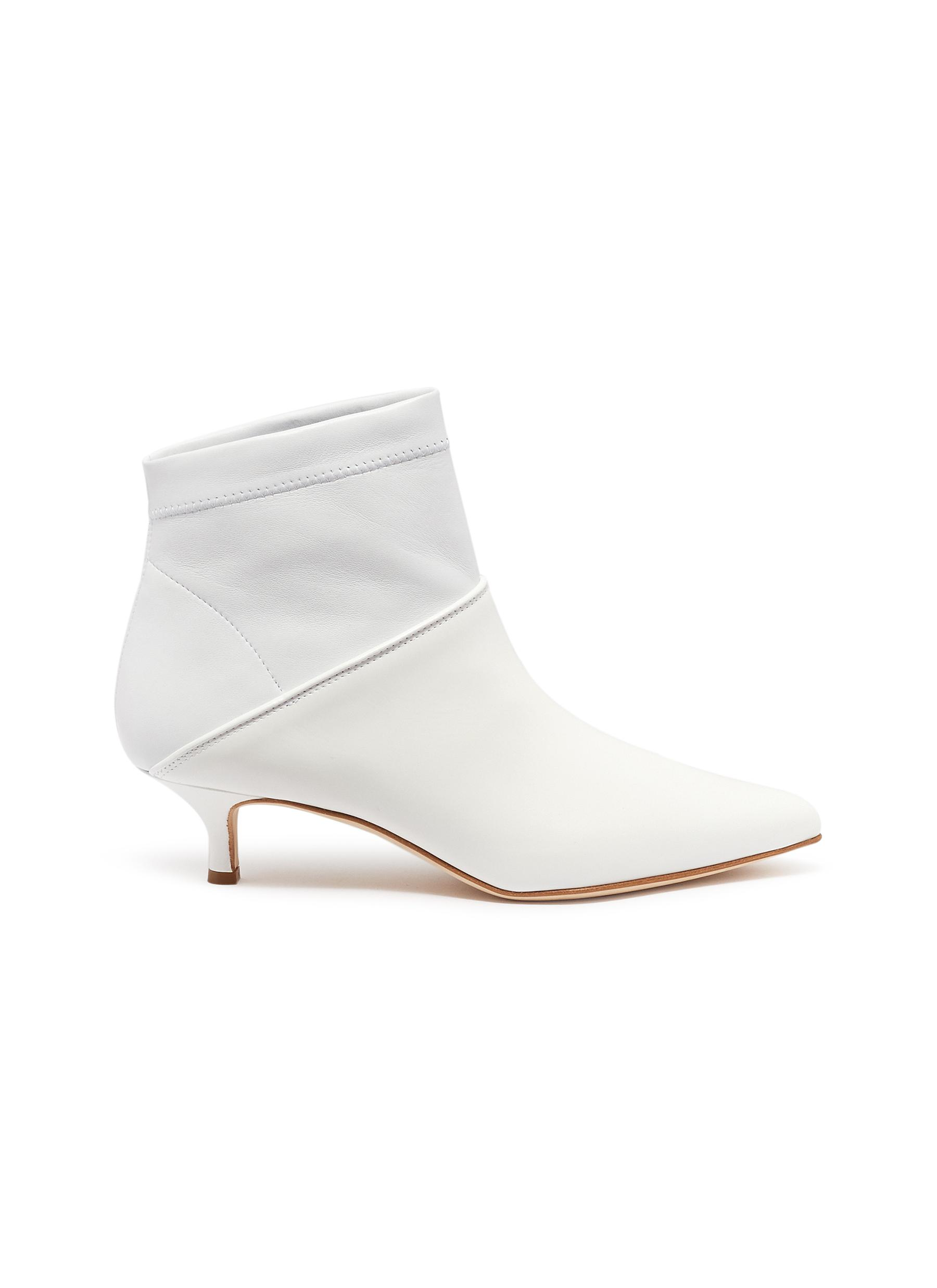 Jean patent leather panel ankle boots by Tibi