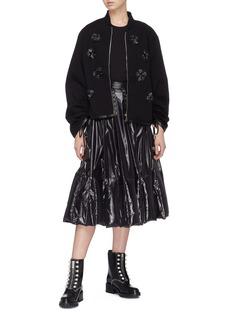 Moncler Genius x Noir Kei Ninomiya 'Magila' floral patch jacket