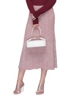 Rejina Pyo 'Olivia' croc embossed leather box bag