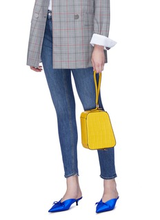MARGE SHERWOOD  'Tail' croc embossed leather crossbody bag