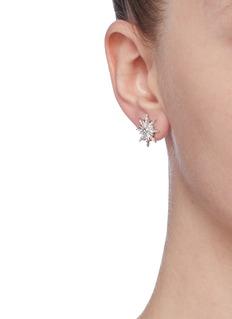 CZ by Kenneth Jay Lane Cubic zirconia pavé starburst stud earrings