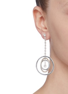 CZ by Kenneth Jay Lane Cubic zirconia orbit drop earrings