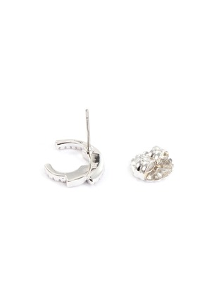 Detail View - Click To Enlarge - CZ BY KENNETH JAY LANE - Cubic zirconia swirl stud earrings