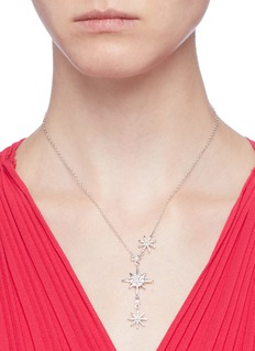 CZ by Kenneth Jay Lane Cubic zirconia starburst pendant necklace
